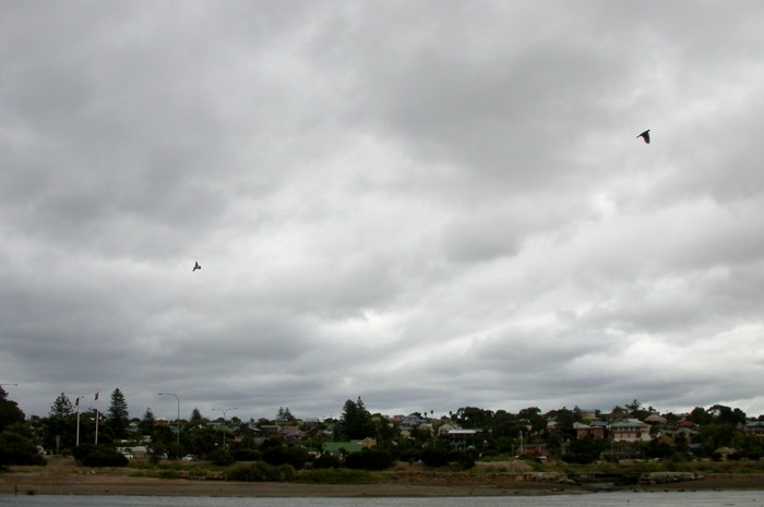 Suburbia under cloud