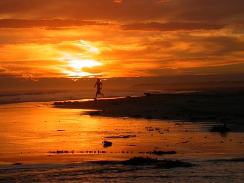 Man running – Piccaninnie Ponds Beach