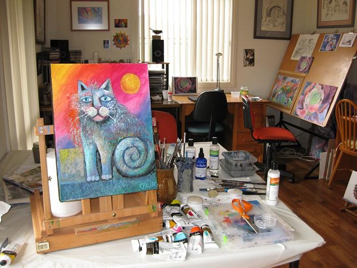 Karin Zeller's studio