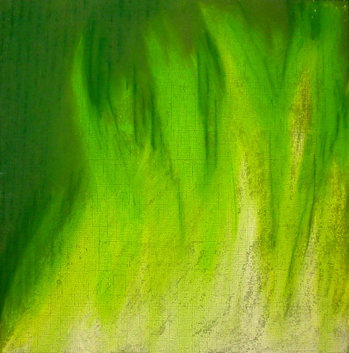Green flame in pastel