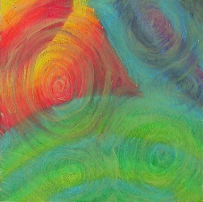 Step 3 – glaze with acrylic