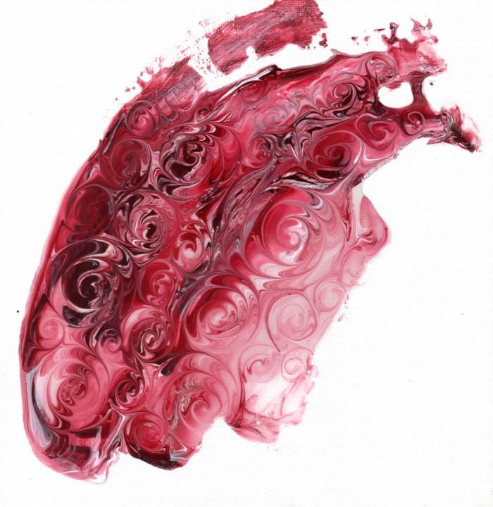 Crimson swirls