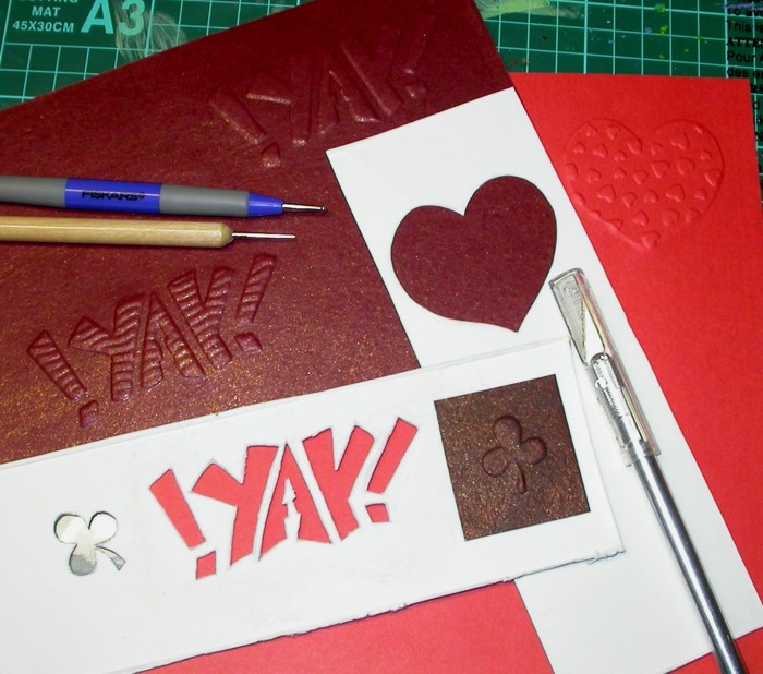 Embossing experiments