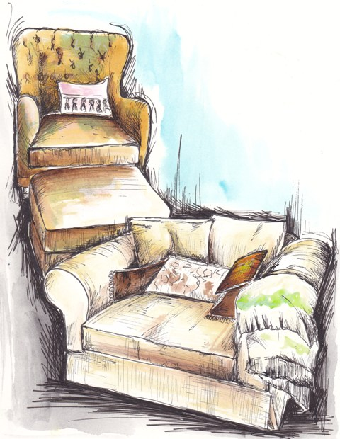 Lounge chairs by Tracey Fletcher King