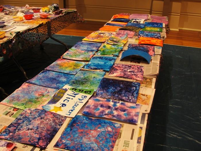 Bubble painting workshop – July 2012