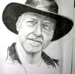 Hubby in a Hat pre-sketch
