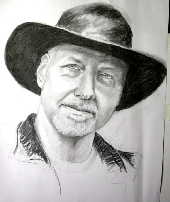 Hubby in a Hat pre-sketch
