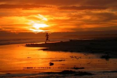 Man running - Piccaninnie Ponds Beach