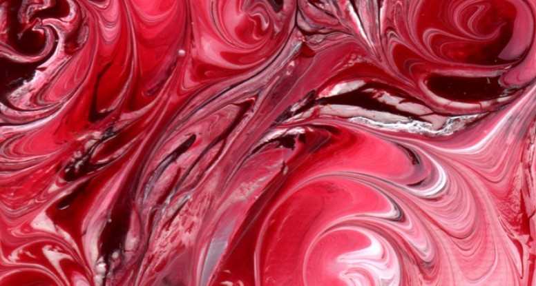 Crimson swirls close up