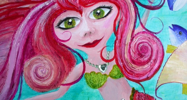 Sofie the mermaid by Liz Powley close up