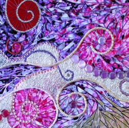 Paper and jewels mosaic