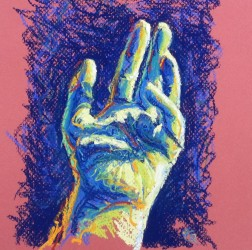 Hand number one: The artist's hand in pastel