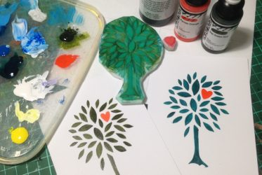 Tree with Heart stamp