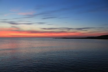Summer sunset at Wallaroo, South Australia