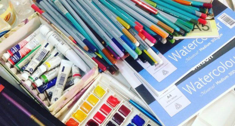 watercolour materials